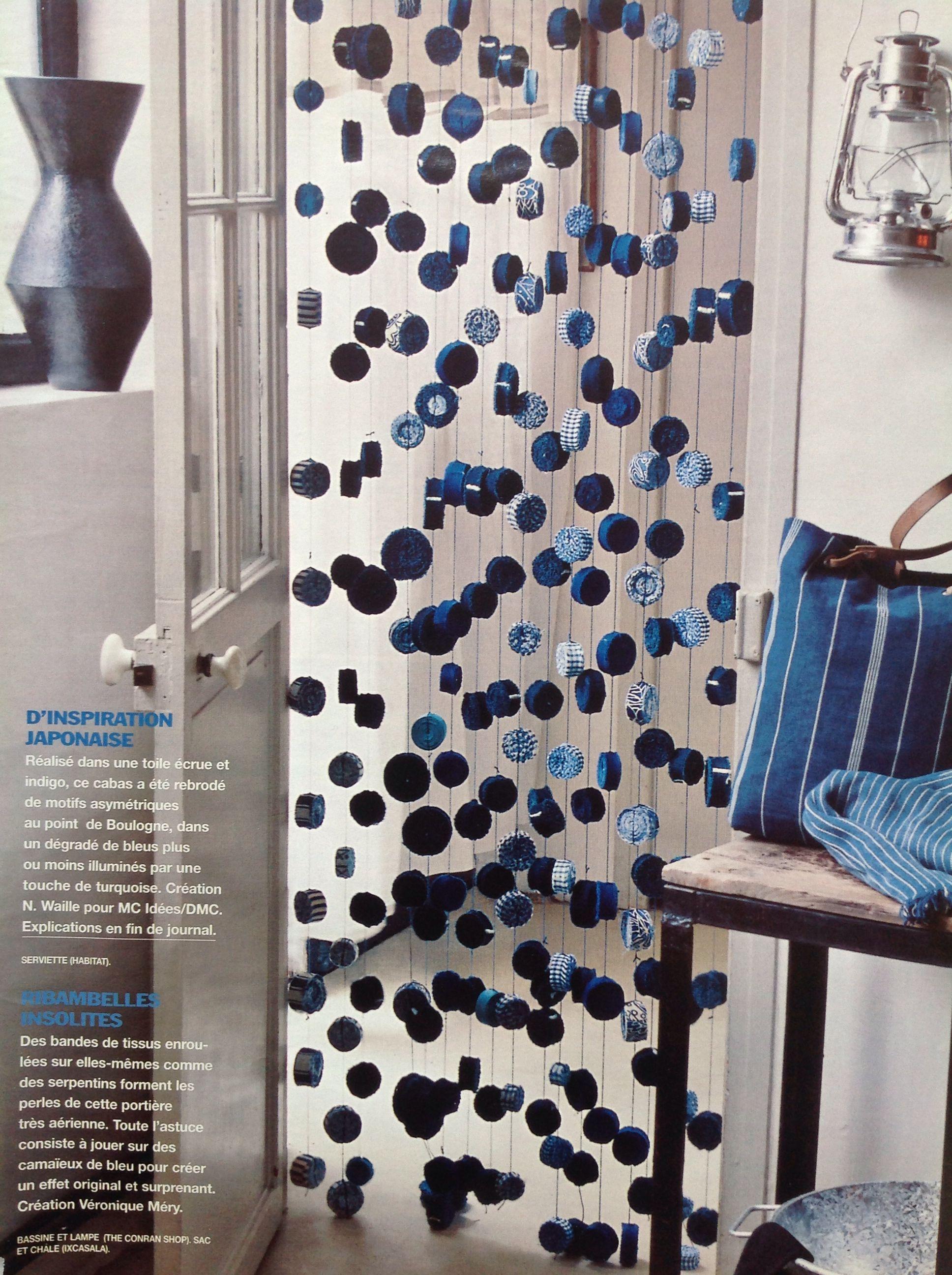 Création De Rideaux Originaux maison créative - rideaux en bandes de tissu enroulées