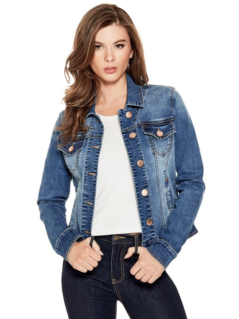 Alisana Denim Jacket In 2021 Denim Jacket Clothes For Women Fashion Clothes Women [ 1066 x 800 Pixel ]