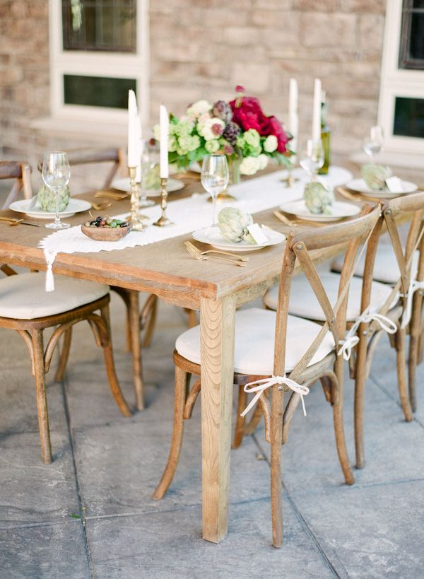Elegant Farm Table   Connie Whitlock   Peony and Lace Outdoor Summer Wedding
