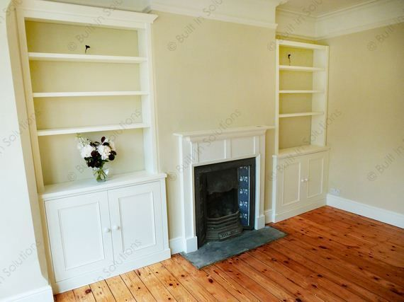 TV Alcove Cupboard And Shelves Above Shows How Good It Can Look When You Give