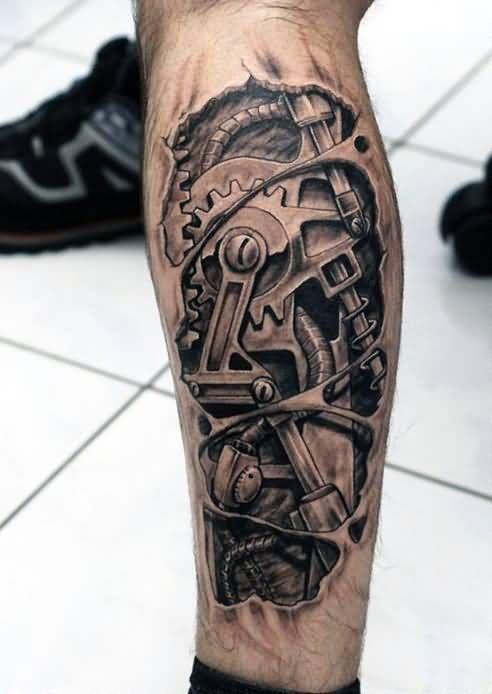 50+ 3D BioMechanical Tattoos Designs For Men (2020)