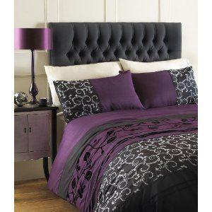 grey king size duvet cover bed set