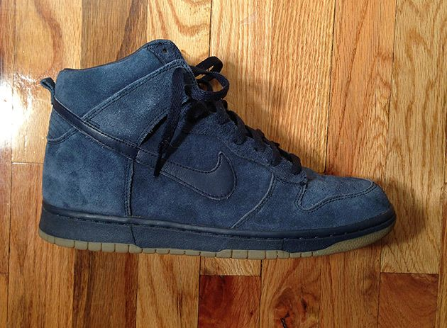 Nike APC Dunk Blue High. The A.P.C. blue in suede made this collaborative Nike  Dunk