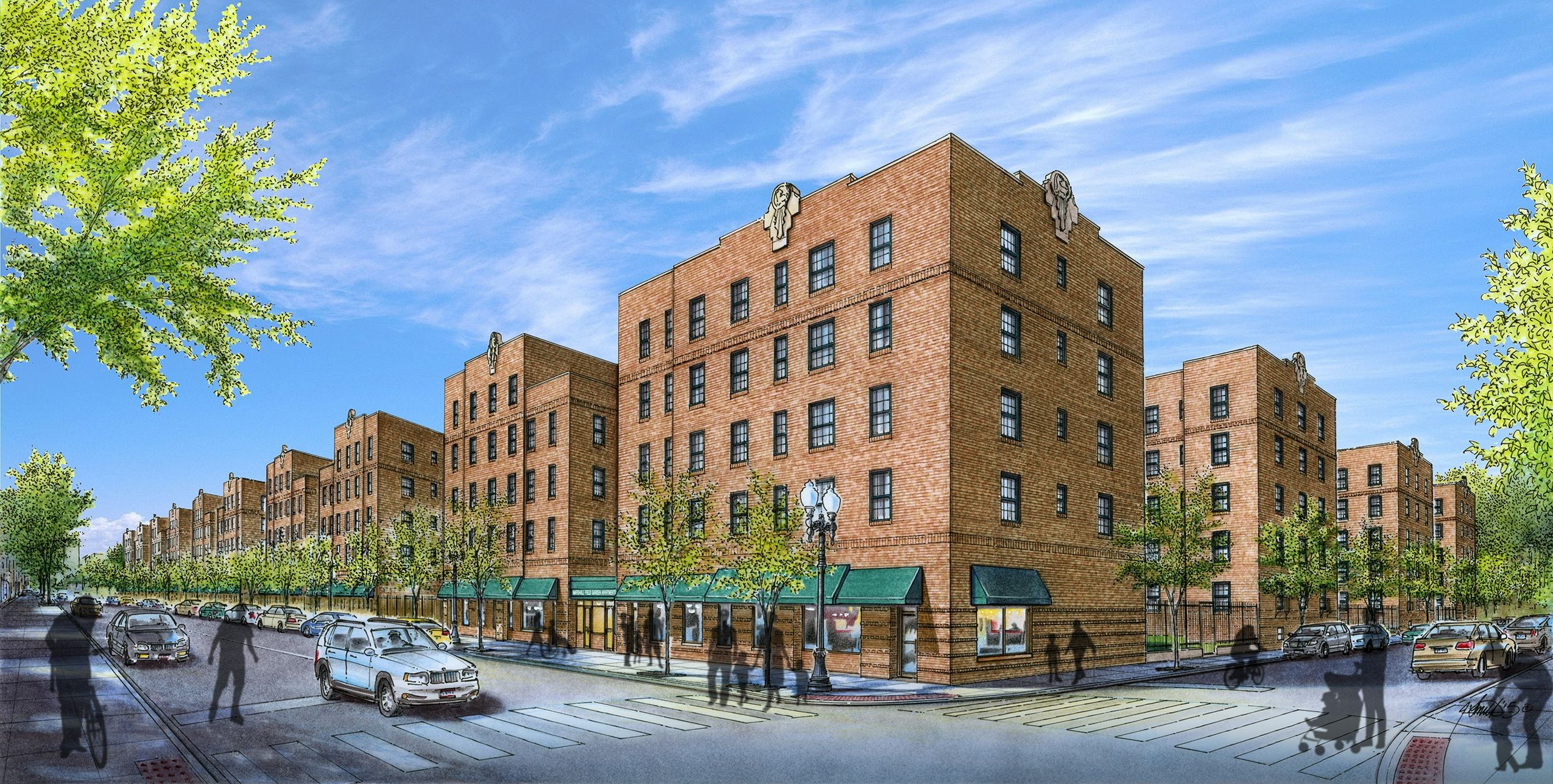 Concept Renderings At The Marshall Field Garden Apartments