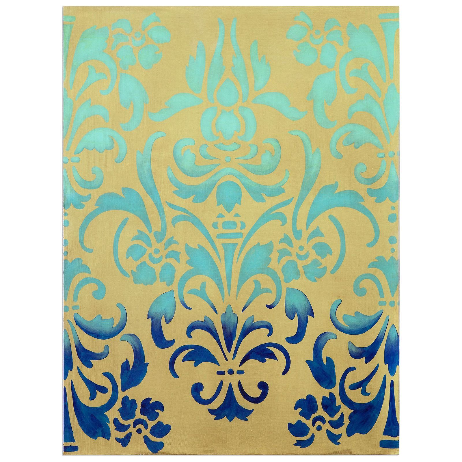 Blue Ombre Stencil Art | Products | Pinterest | Blue ombre and Products