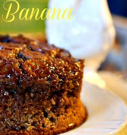 Carmelized Banana Upside-Down Cake