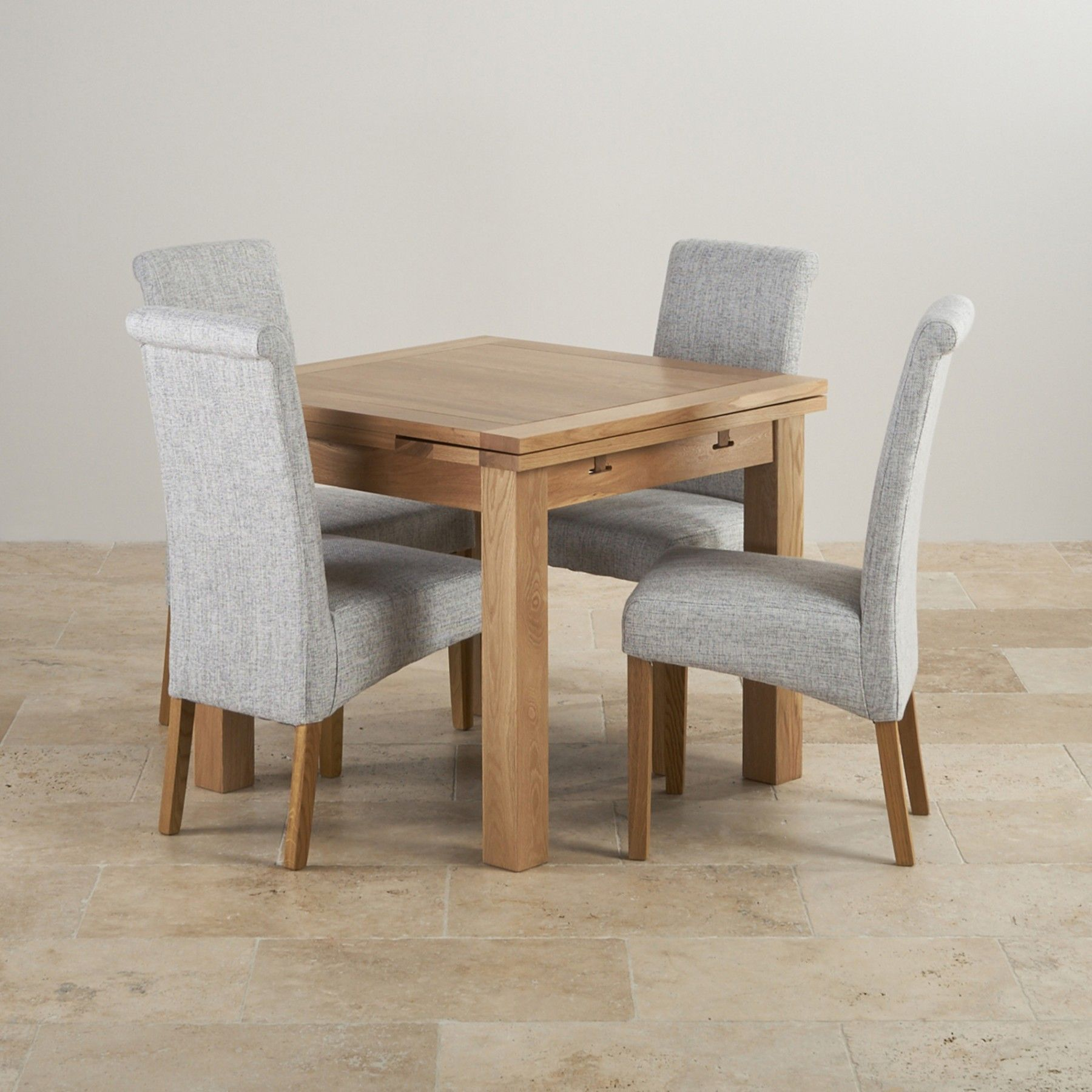 Enjoyable Dorset Natural Solid Oak Dining Set 3Ft Extending Table Creativecarmelina Interior Chair Design Creativecarmelinacom