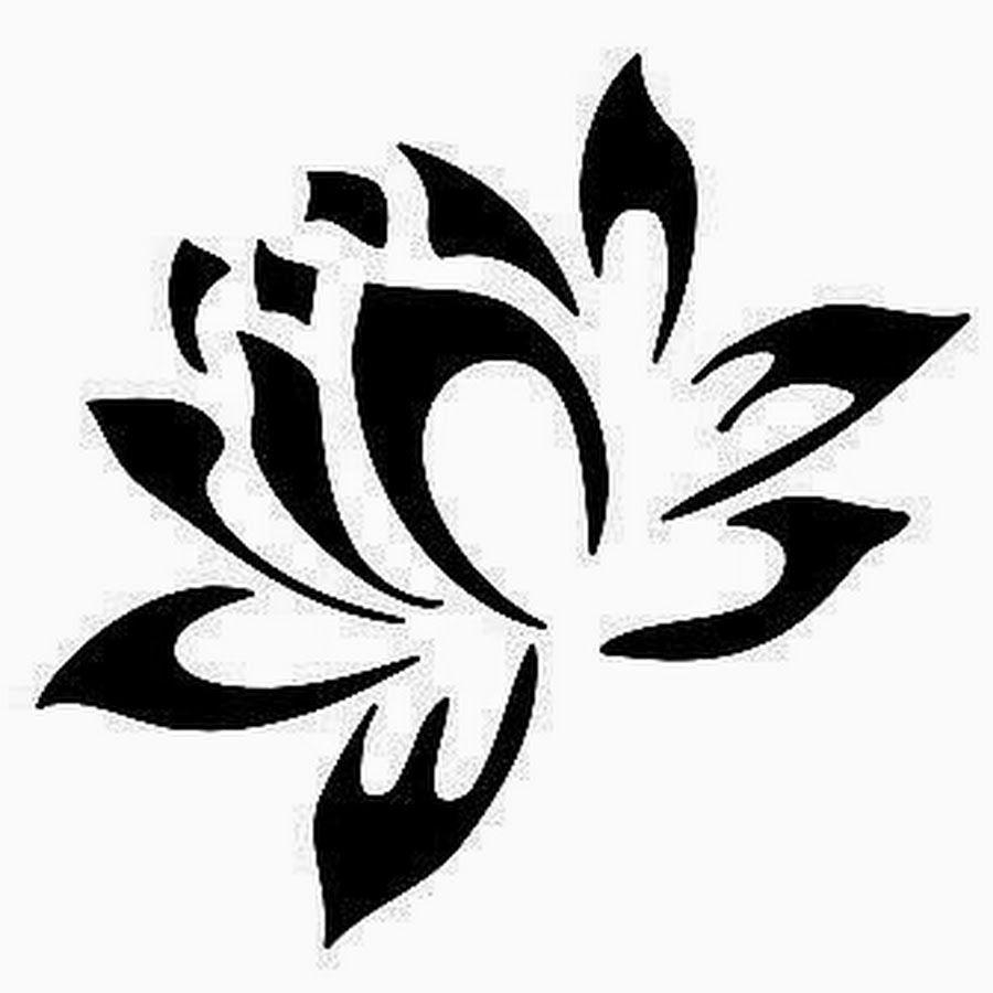 Cool Black Tribal Lotus Tattoo Stencil Drawings Pinterest