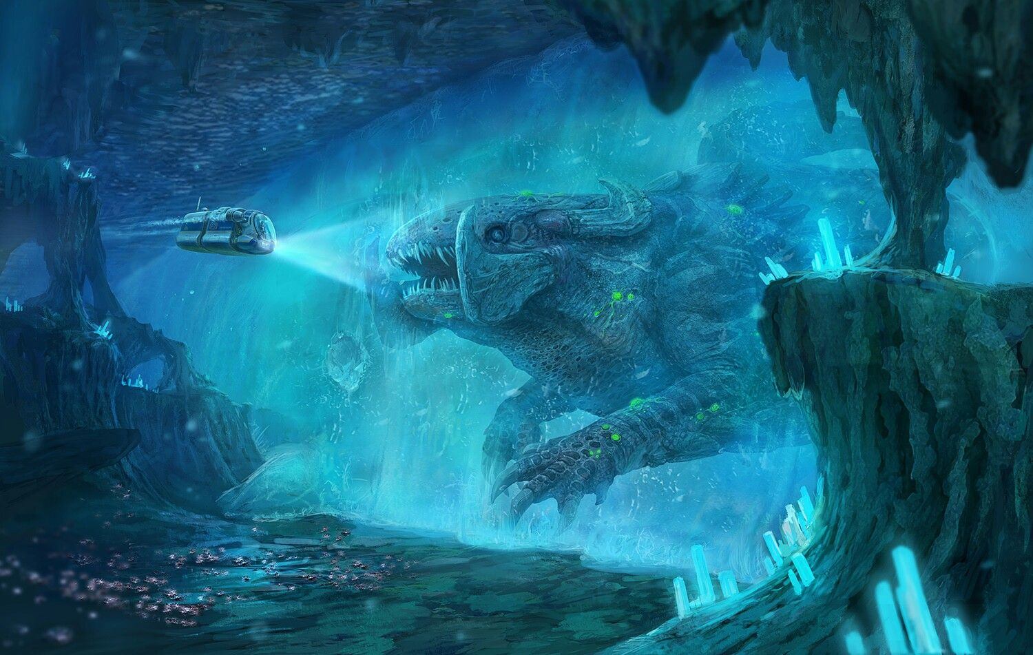 Everything Has His Own End Or Not Melting Ice Subnautica Concept Art Subnautica Creatures Scary Art