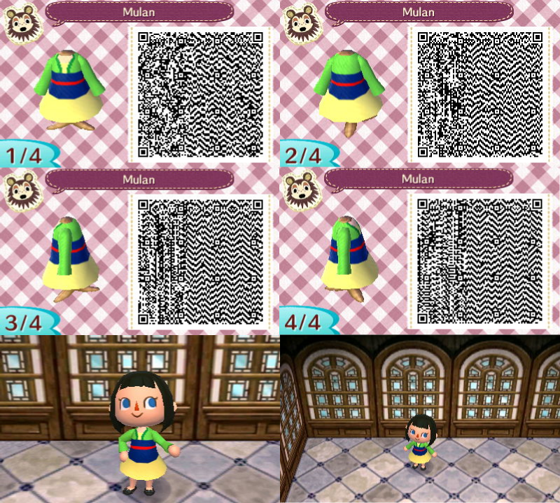 Acnl Qr Mulan By Purplefire153 Animal Crossing Animal
