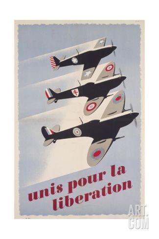WWII AIRCRAFT INSIGNIA IDENTIFICATION CHART PROPAGANDA POSTER CANVASART PRINT