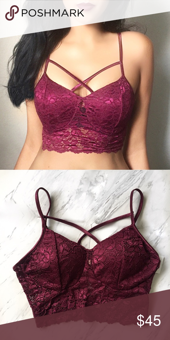 19778b7d57c Lace Bralette Lace bralette -soft lace -padding for added shape and support  -NWOT