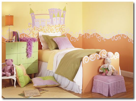 bedroom murals young girl | Paint Ideas for Kids\' Rooms | Paint it ...