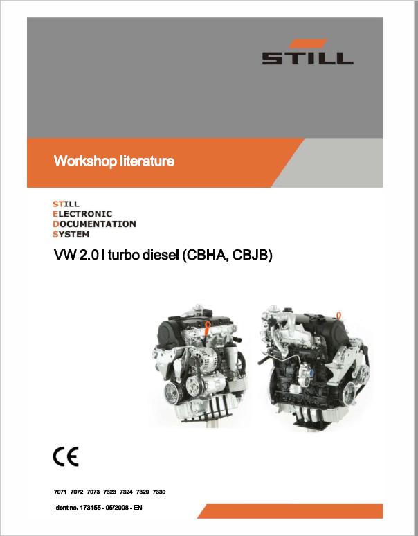 Still Engine VW 2 0i Turbo Diesel (CBHA, CBJB) Workshop