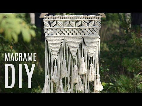 Photo of We have done many studies on macrame rope. Macrame wall ornament built …