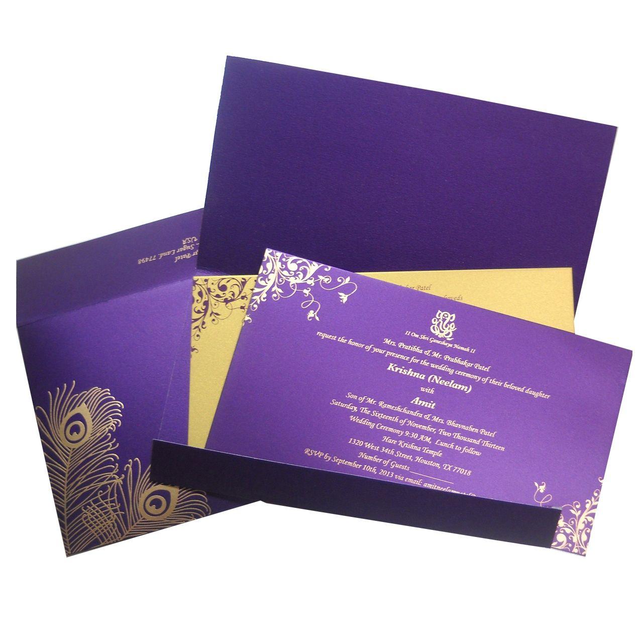 Indian wedding invitation wording template | Indian wedding ...