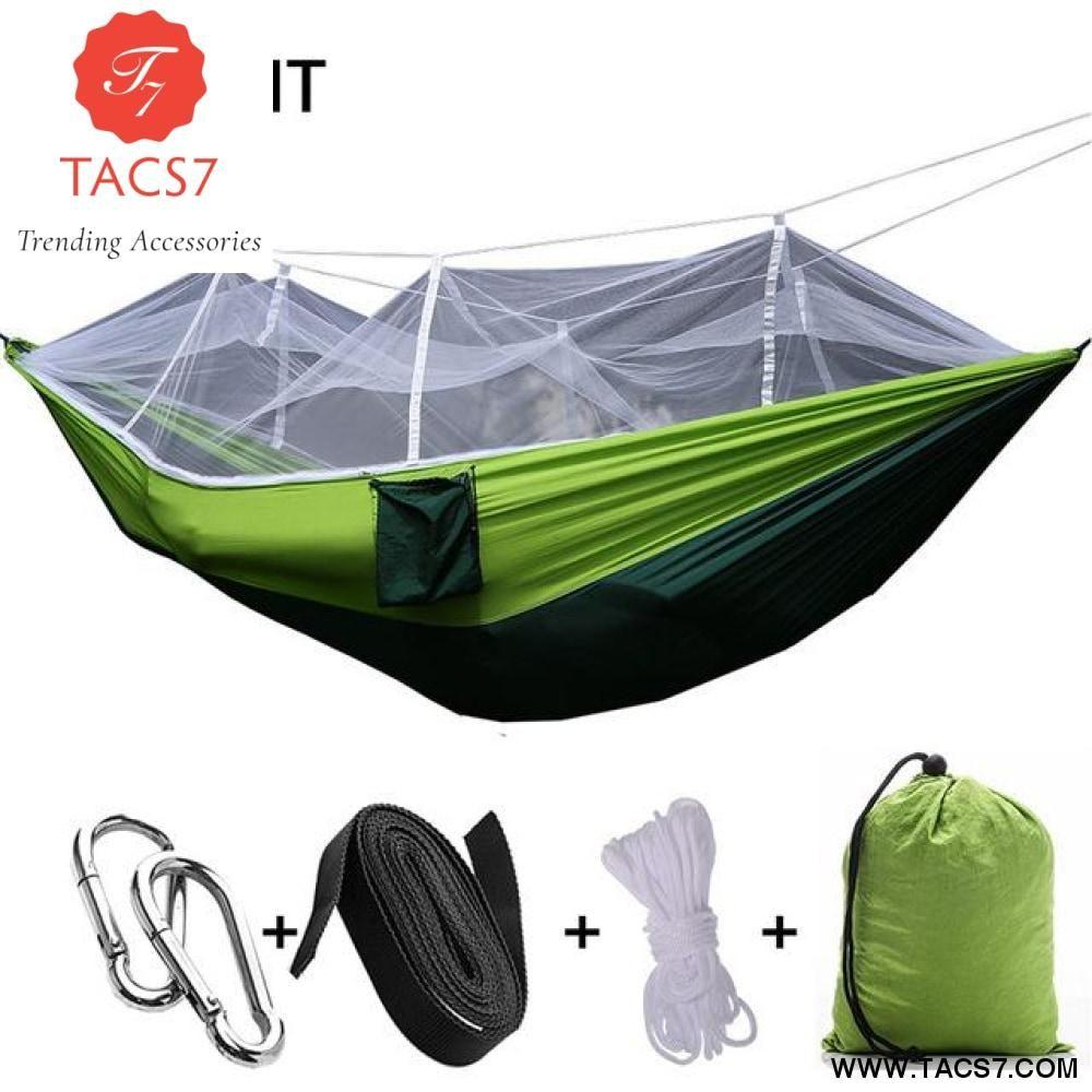 Norent Ultralight Folding Portable Hammock Outdoor Garden Double Bed Travel Camping Lazy Bag Hunt Double Camping Hammock Hammock With Mosquito Net Hammock Tent
