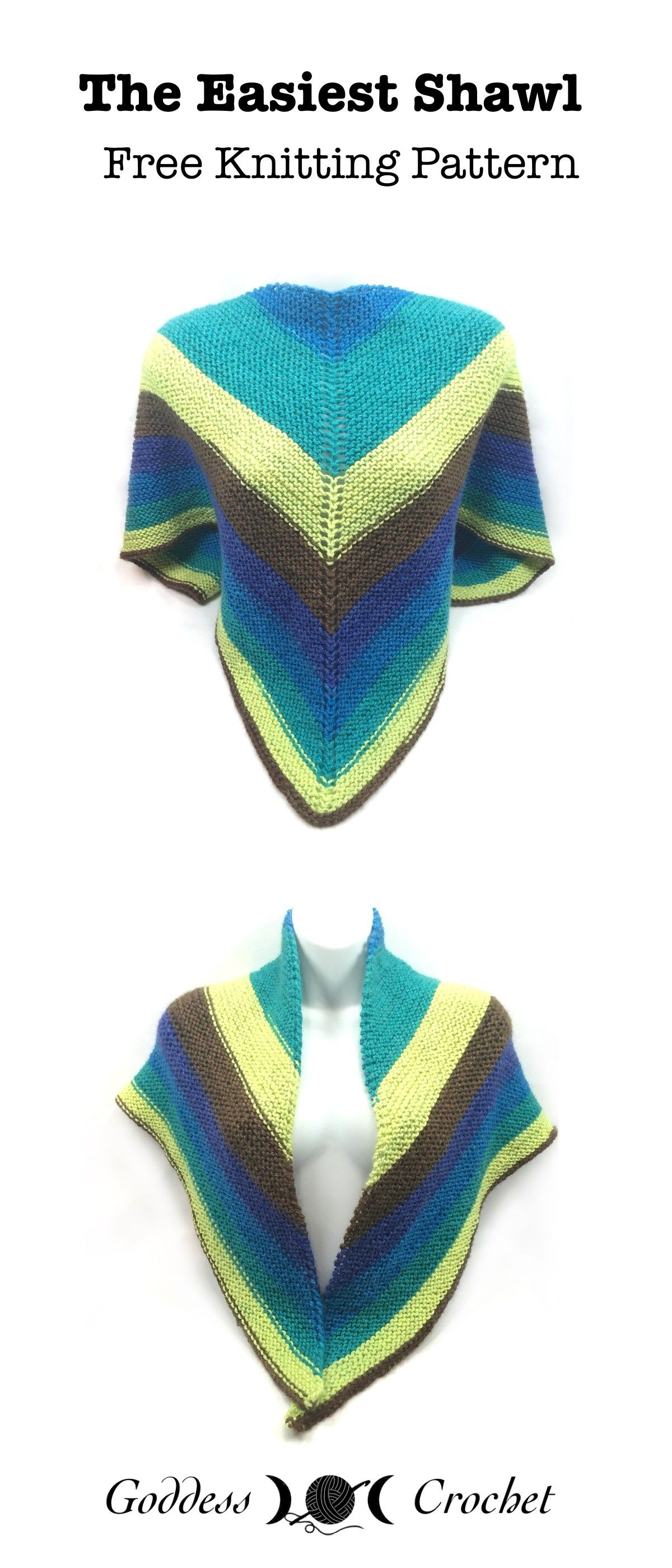 The Easiest Shawl - Free Knitting Pattern   Blogger Knitting ...