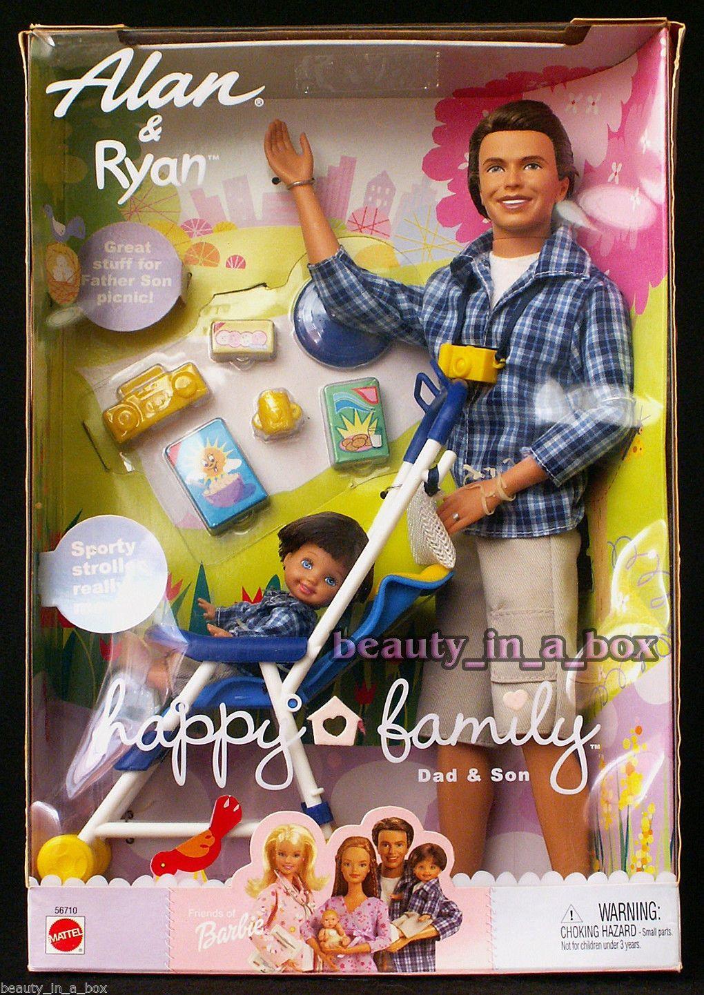 Happy Family Alan® Doll and Ryan® Doll Barbie happy