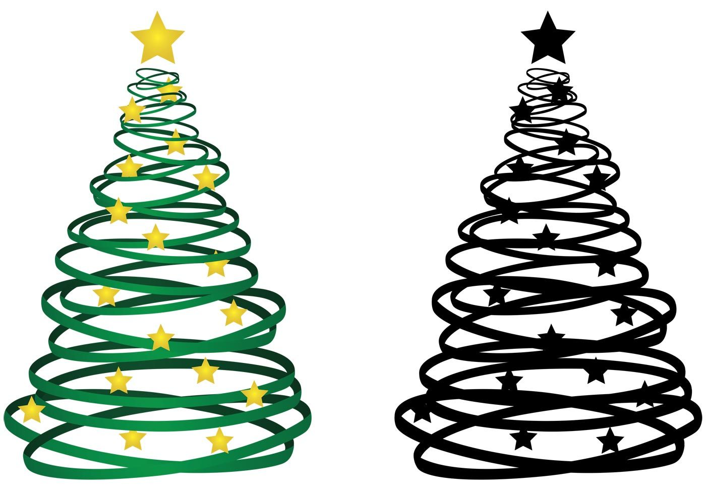 Ribbon Christmas Tree Vector Free Vector Art At Vecteezy Cool Christmas Trees Christmas Tree Ornaments Wallpaper Ribbon On Christmas Tree