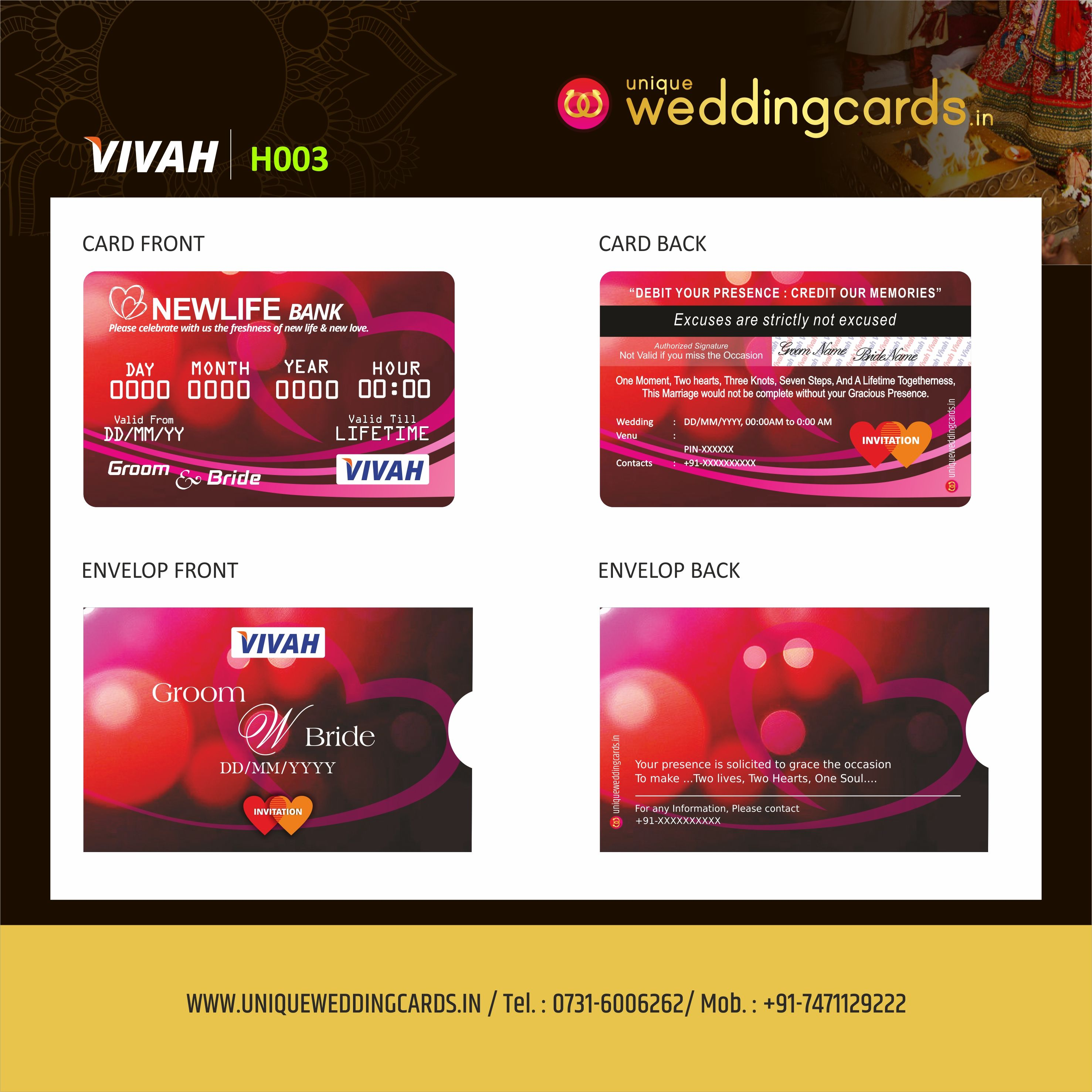 Pin by Unique Wedding Ideas on ATM Style Wedding Invitation Cards ...