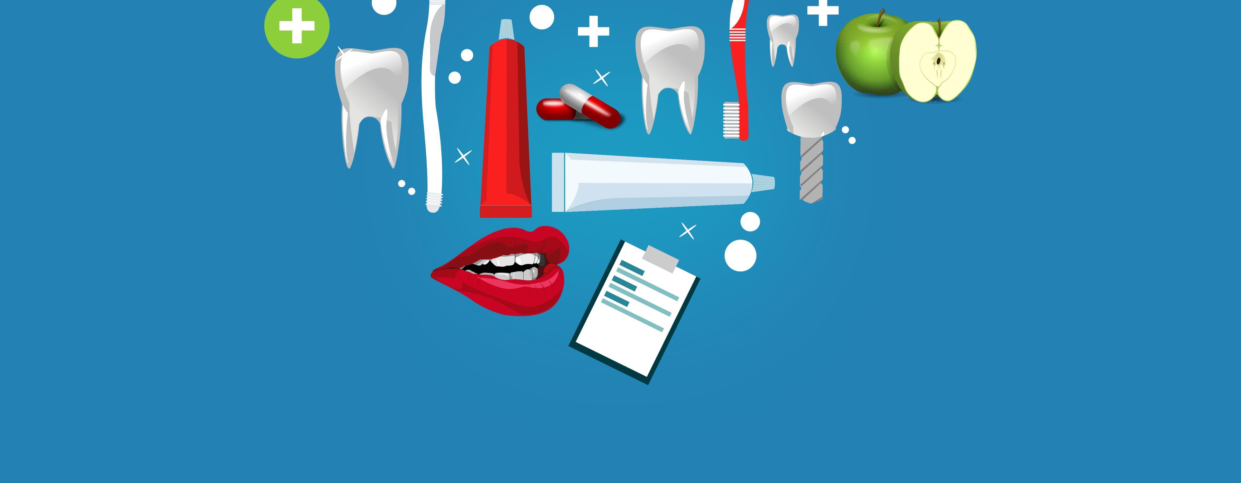Oral Care Concept - Oral Hygiene Products #dental #dental #care #teeth  #dentistry #art #background #blue #bright #brush #care … | Oral care, Oral  hygiene, Dentistry