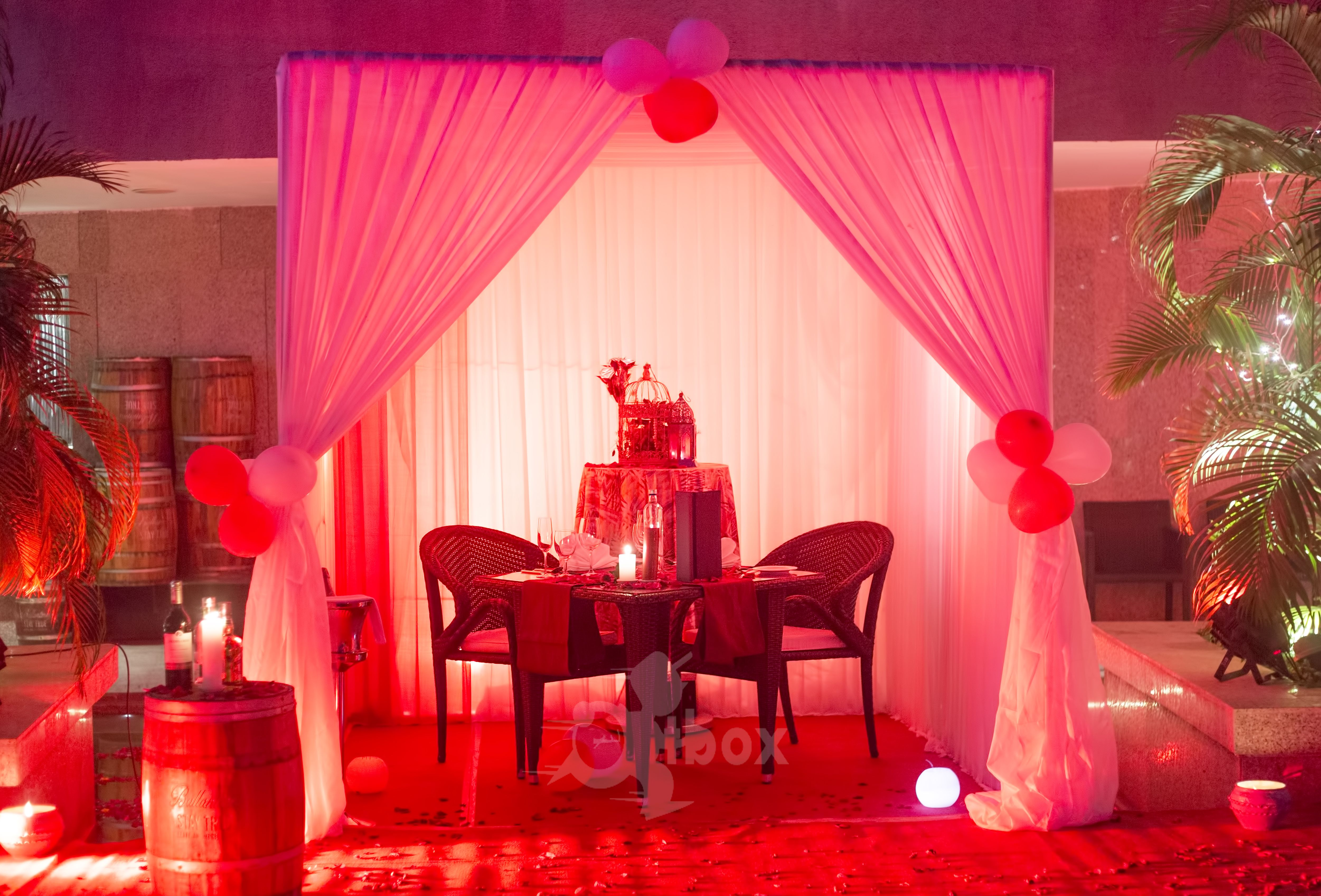 Cabana setup for a romantic date night romantic dates