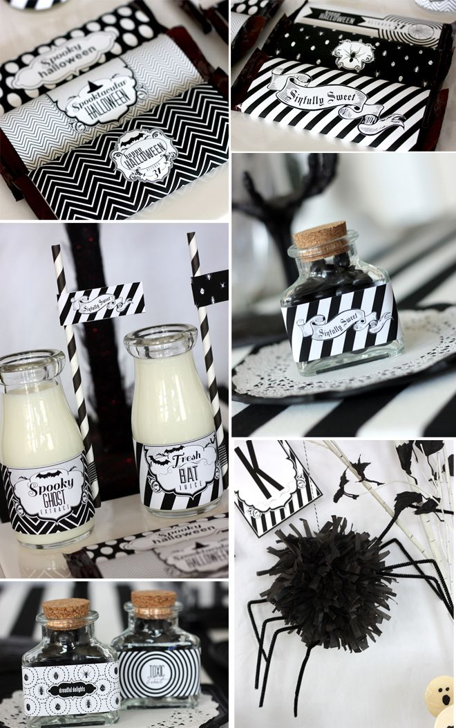 Sophisticated Black White Halloween Party White Halloween Party Chic Halloween Halloween Party Menu