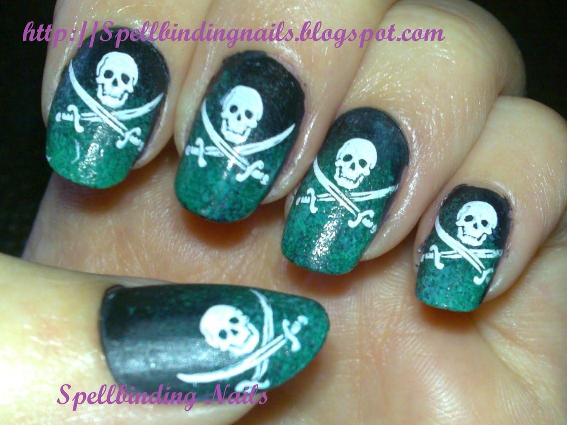 pirates of the caribbean nails | nails | Pinterest