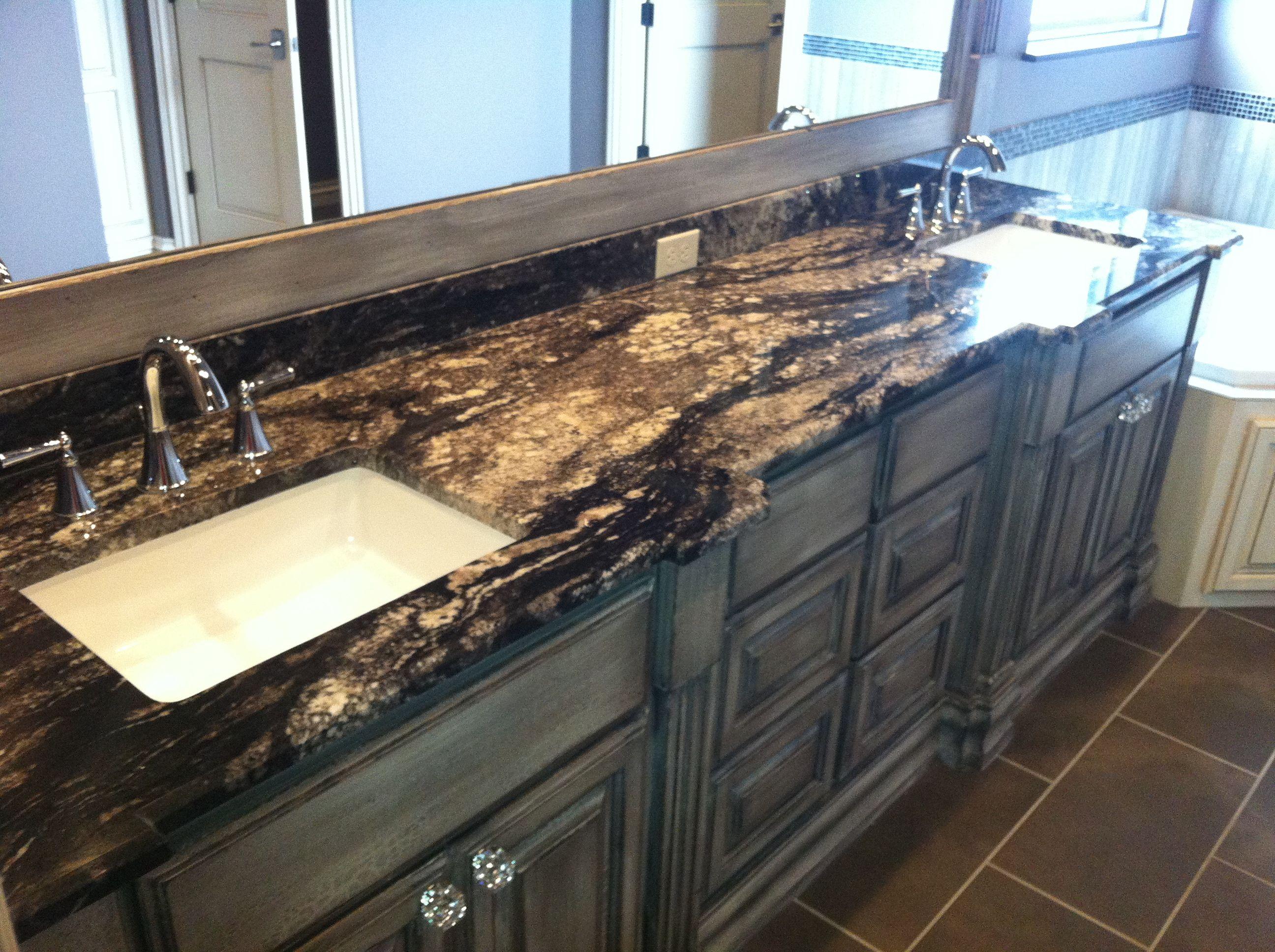 Titanium Granite Countertop With Backsplash - Year of Clean