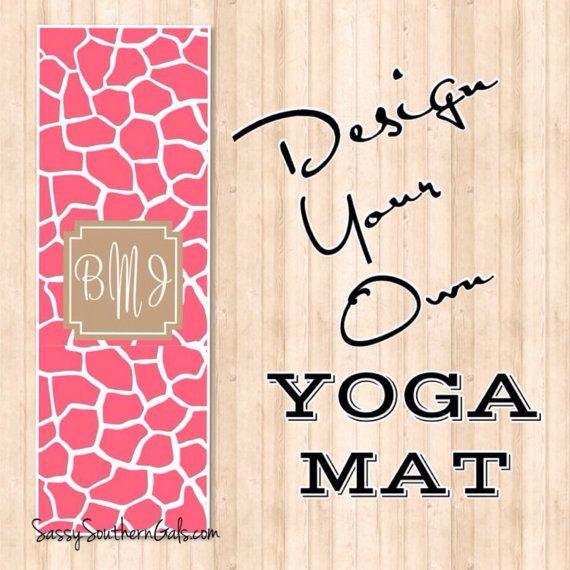 pin on style your yoga fitness in work mat mats monogrammed