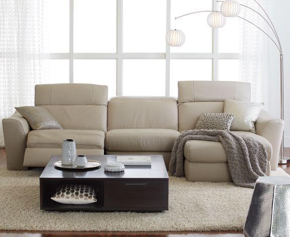 Alessandro Leather Sectional with Chaise u0026 2 Power Motion Recliners - Furniture - Macyu0027s & Alessandro 6-Piece Leather Sectional with Chaise u0026 2 Power Motion ... islam-shia.org