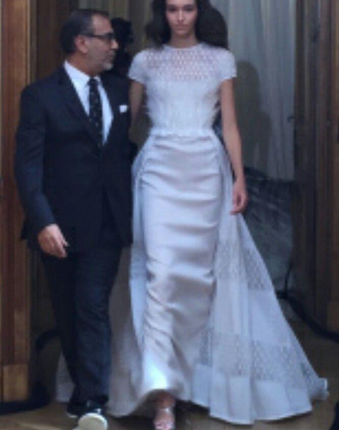 Georges Chakra et sa robe de mariée