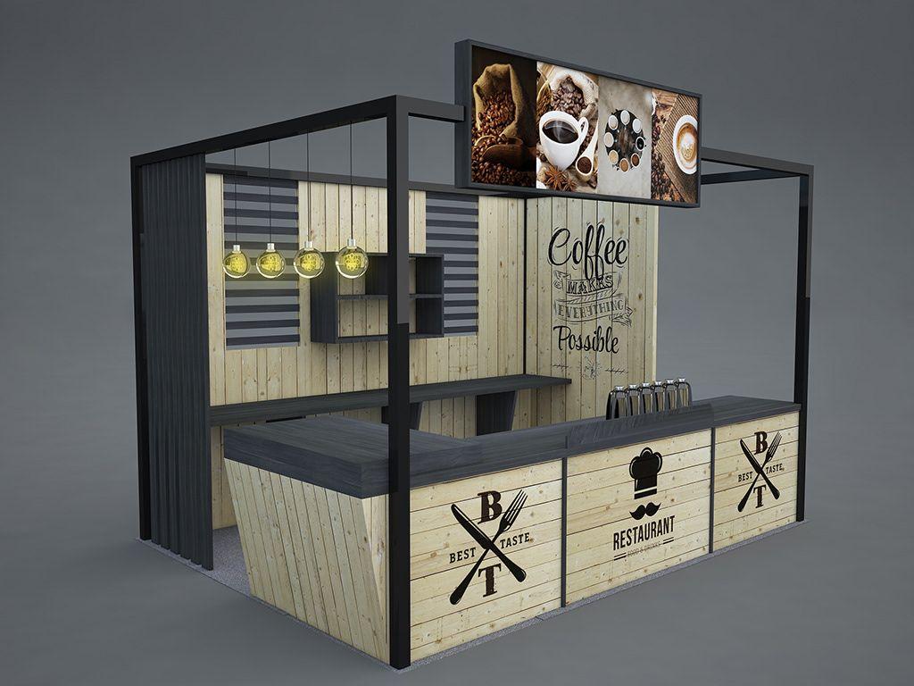 Food Festival Booth Design On Behance Desain Desain Restoran Ide Penyimpanan