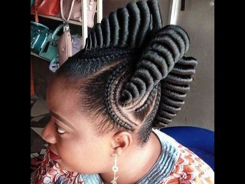 Straight Up Braids Beautified Hairstyles For Cute Ladies Youtube