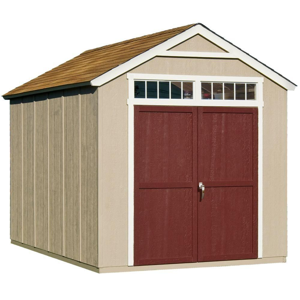 Handy Home Products Majestic 8 Ft X 12 Ft Wood Storage Shed 18631 8 Wood Storage Sheds Building A Shed Outdoor Storage Sheds