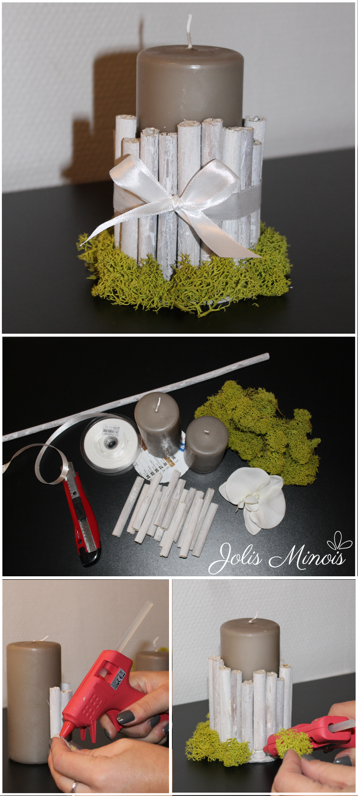 DIY Bougies Bois & Mousse - Candles Forest