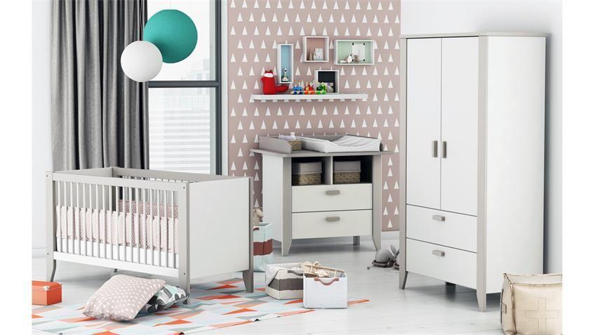 Babyzimmer NOAR Kinderzimmer Komplett Set in weiß taupe