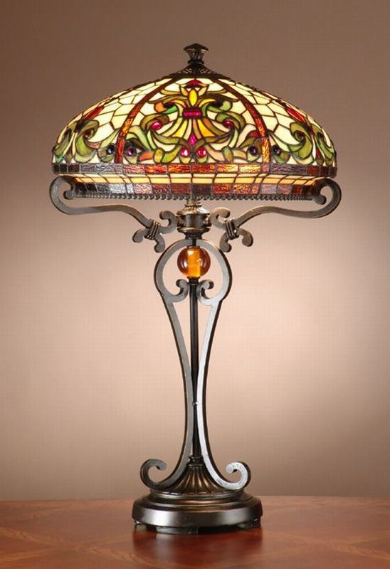 Boheme tiffany style real stained glass handcrafted floor lamp dale tiffany boehme tiffany table lamp part of the antiques roadshow collection the dale tiffany boehme tiffany lamp is inspired by galle lamps from the mozeypictures Gallery