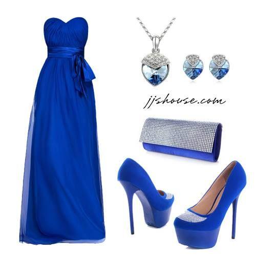 Azul Rey En 2019 Vestidos Azul Rey Largos Vestido De