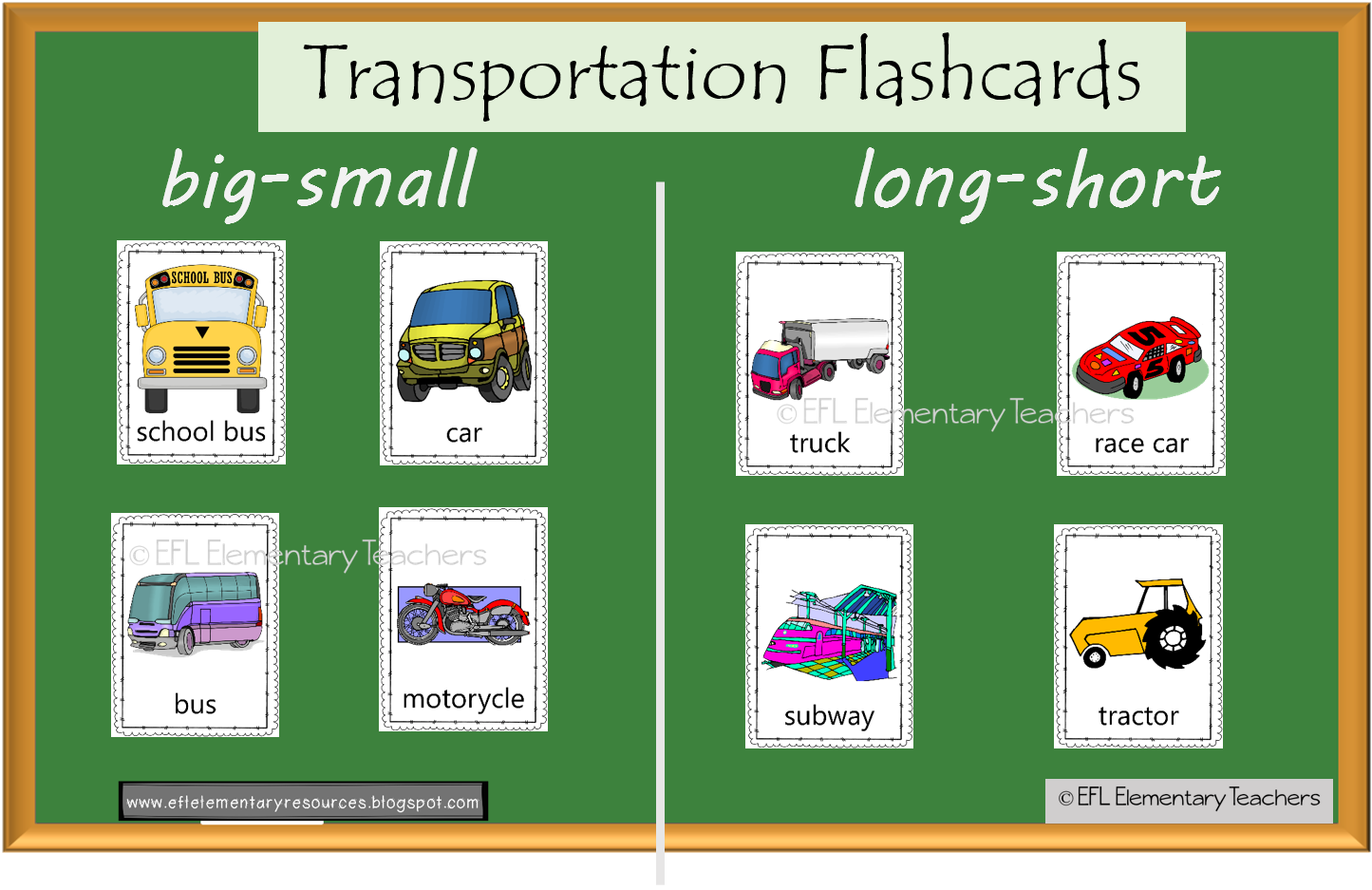 Esl Transportation And Adjectives Big Small Long Short Old New Cheap Expensive English Language Learners Activities Adjective Words Esl Elementary [ 937 x 1445 Pixel ]