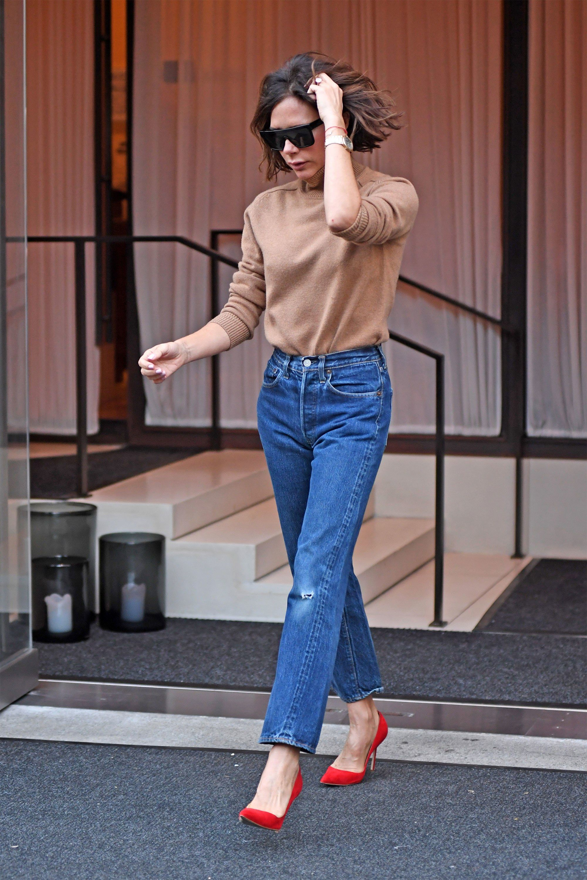 Victoria Beckhamu2019s Outfits On the Day of Her Spring 2018 Show During New York Fashion Week ...