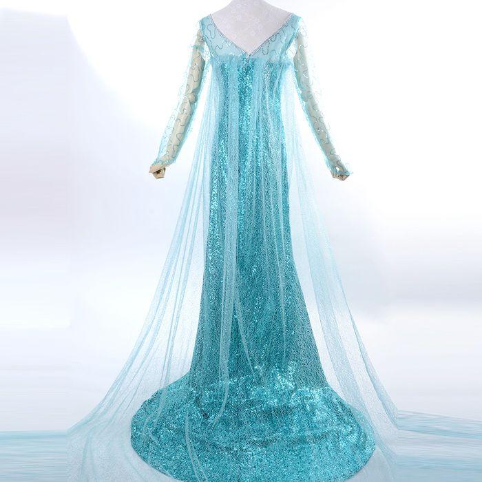 anna and elsa costumes halloween costume adult snow queen elsa costume princess elsa cosplay halloween - Halloween Costumes Of Elsa
