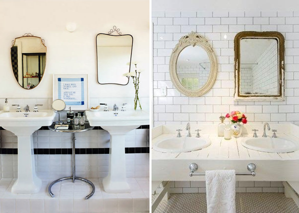 His And Hers Bathrooms I Love The Idea Of The Two Mismatched But