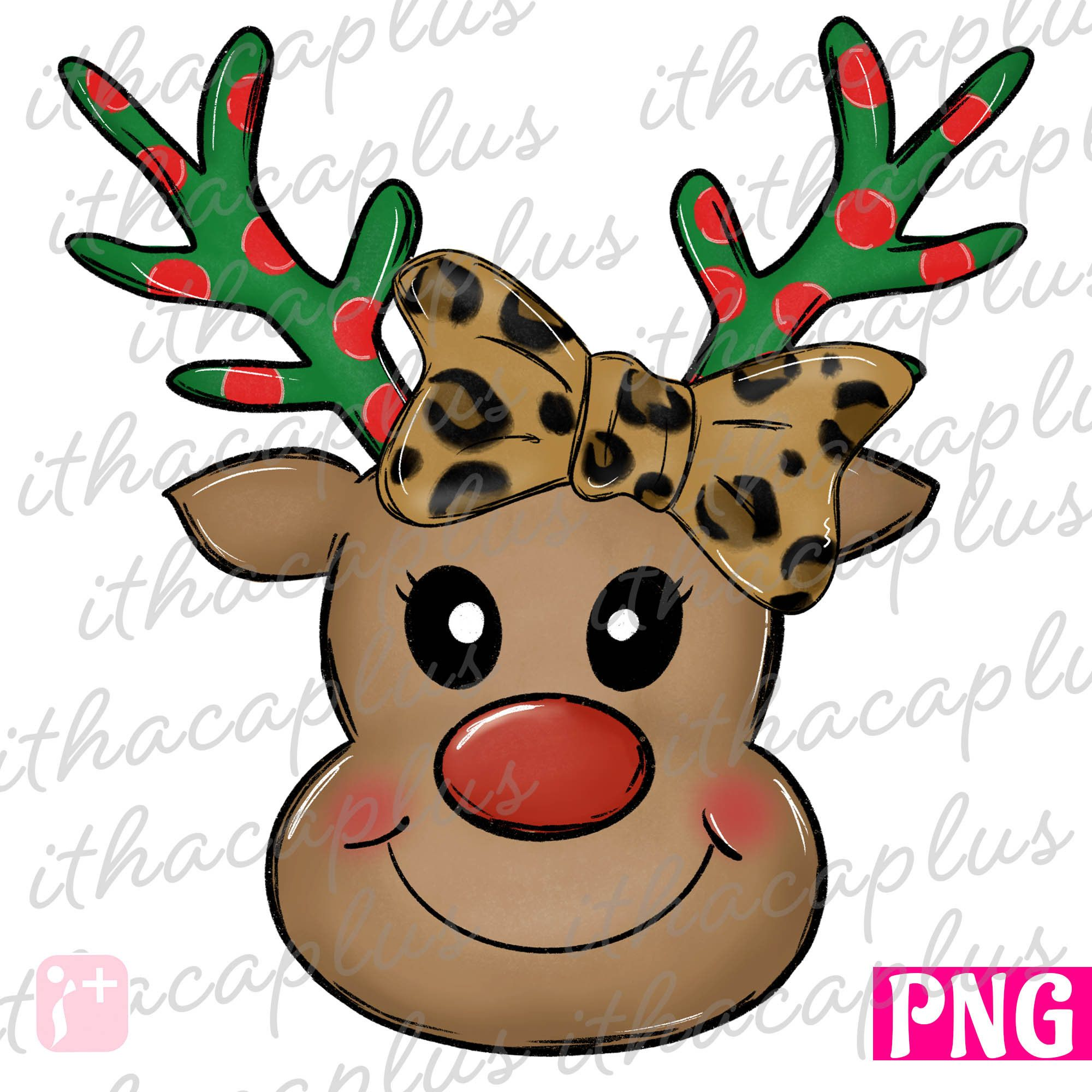 Christmas Png Leopard Bow Reindeer Rudolph Png Sublimation Cute Christmas Deer Clipart Digital Printable Xmas Reindeer Png In 2021 Reindeer Drawing Christmas Stickers Letter D Crafts