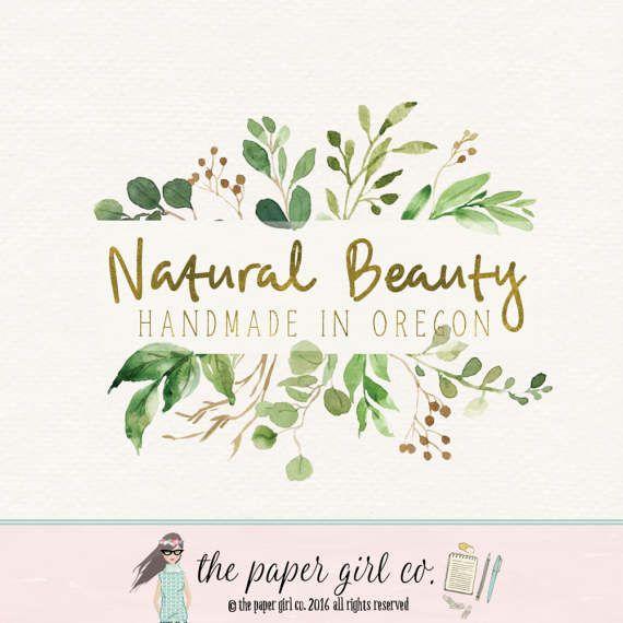 premade logo leaf logo soap logo beauty logo by