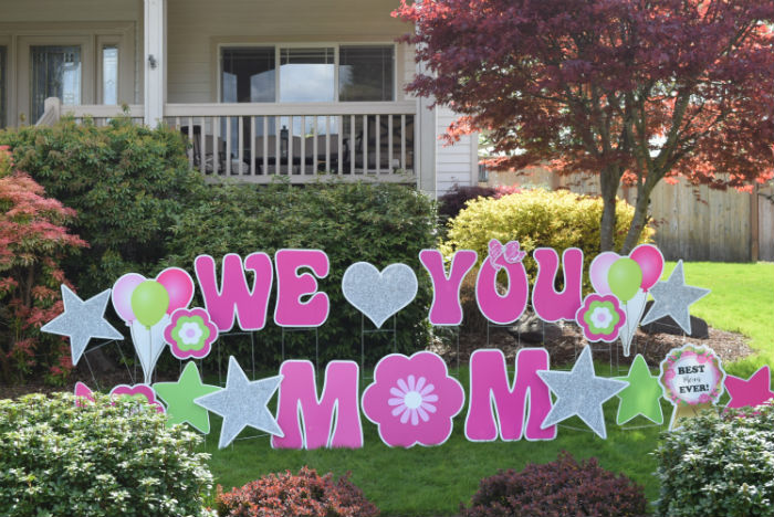 Happy Mothers Day Outdoor Signs Diy Google Search In 2020 Yard Cards Birthday Yard Signs Yard Signs