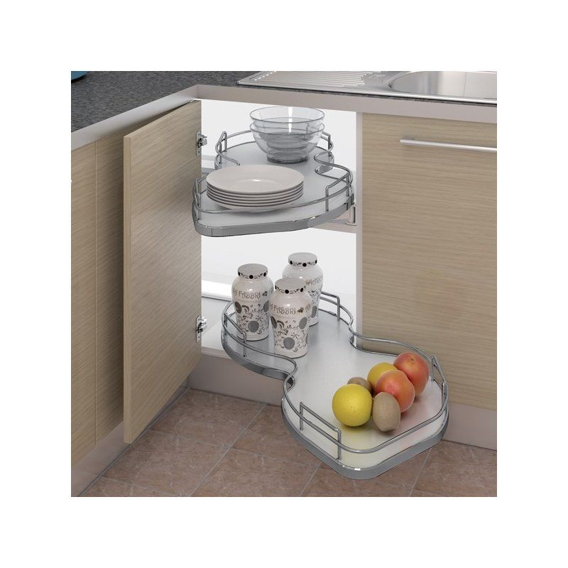Nuvola Corner Pull Out Shelving Suit 800mm Kitchen Units   East Coast  Kitchens U0026 Bedrooms Ltd