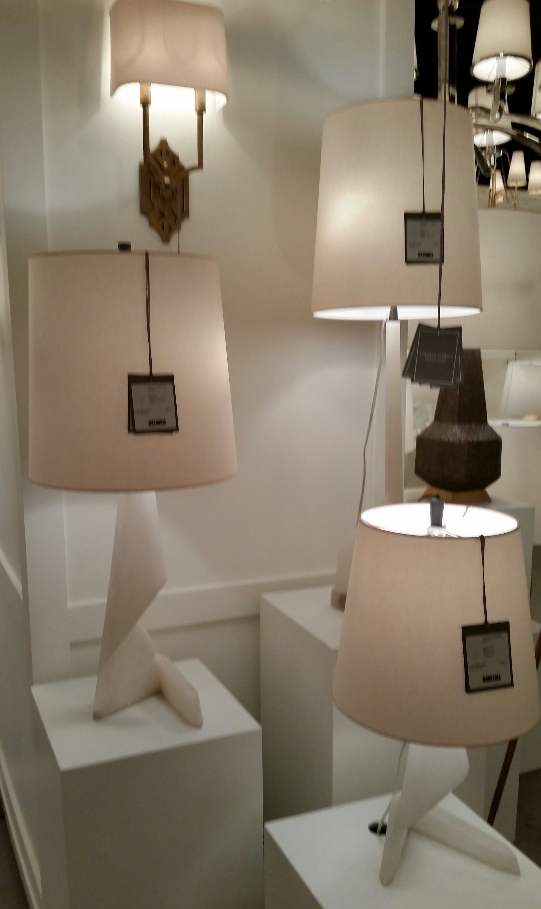 unusual lamp bases side table truly unusual and sculptural lamp bases at the visual comfort showroom in high point