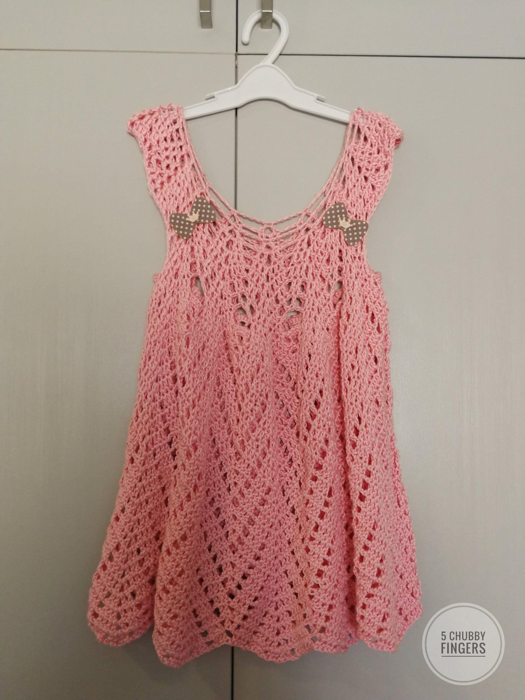 Beautiful crochet dresses for little girls- Free patterns | Tığ Işi ...